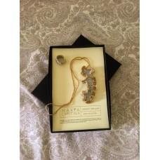 """Brincos, colar e anel prateado e dourado   """"Wave Collection"""""""
