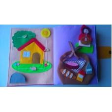 Livro Interativo de Feltro Capuchinho Vermelho 22x27cm