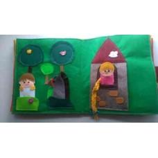 Livro Interativo de Feltro Rapunzel (25x25cm) 300g
