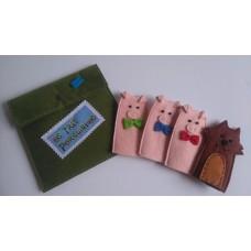 Bolsa 4 dedoches 3 Porquinhos