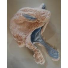 Gorro quentinho, com forro em flanela azul 100%CO.